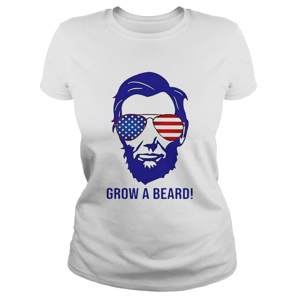 Grow a beard American flag veteran Independence Day  Classic Ladies