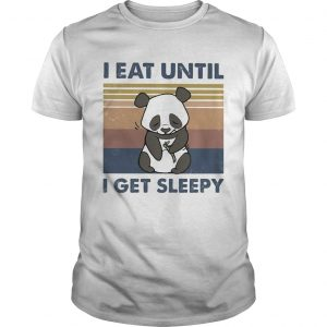 I Eat Until I Get Sleepy Panda Vintage Retro  Unisex