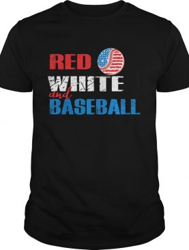 Independence Day red white and baseball shirt