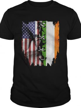 Ireland and American flag veteran Independence Day shirt