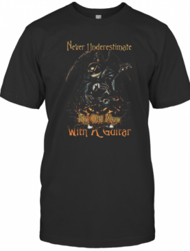 Jack Skellington Nightmare Never Underestimate An Old Man With A Guitar T-Shirt