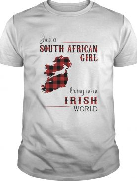 Just A South African Girl Living In An Irish World Map shirt