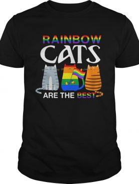 LGBT rainbow cats are the best shirt