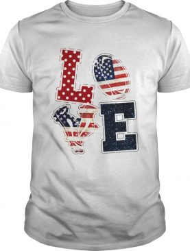 Love Rugby American Flag Veteran Independence Day shirt