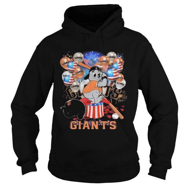 Mouse san francisco giants happy independence day mask soap firework balloon american flag  Hoodie