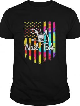 Nail tech american flag independence day shirt