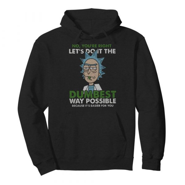 No Let's Do It The Dumbest Way Possible  Unisex Hoodie