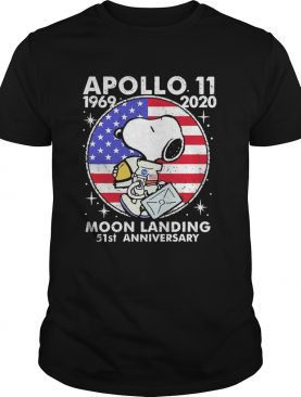 Snoopy apollo 1969 2020 moon landing 51st anniversary american flag independence day vintage shirt