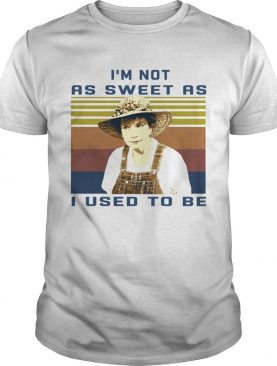 Steel magnolias Im not as sweet as I used to be vintage retro shirt