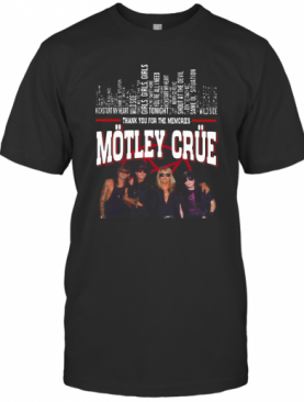 Thank You For The Memories Motley Crue Band T-Shirt
