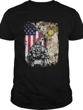 United State Marine Corps American flag veteran Independence day shirt