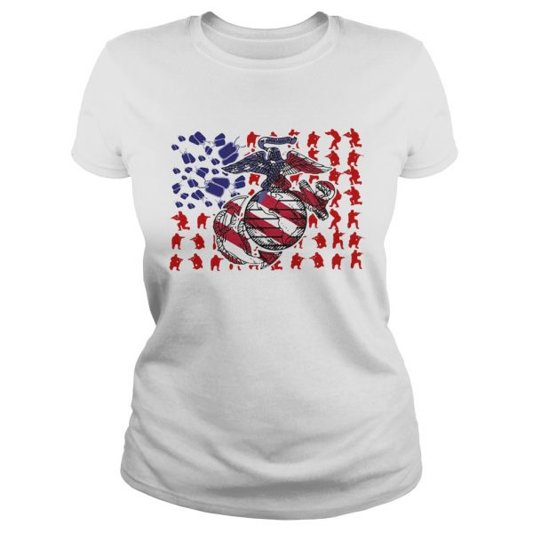 United States Marine Corps American Flag Veteran Independence Day  Classic Ladies