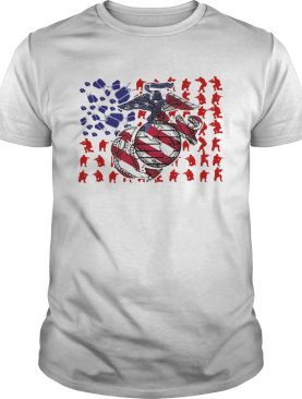 United States Marine Corps American Flag Veteran Independence Day shirt