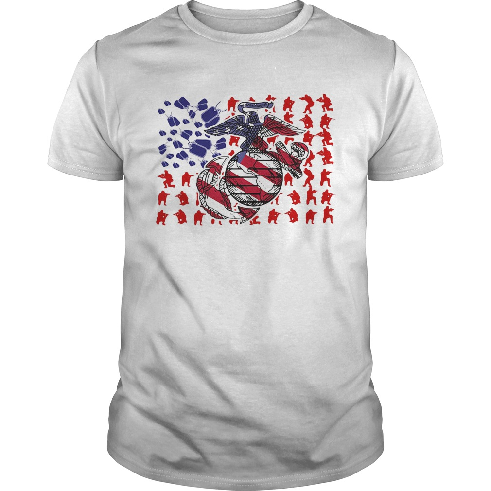 United States Marine Corps American Flag Veteran Independence Day  Unisex