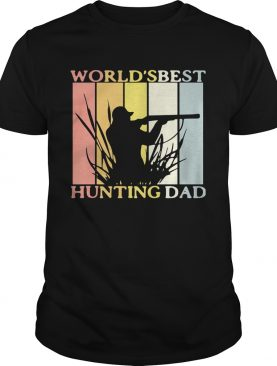 Worlds best hunting dad happy fathers day vintage retro shirt