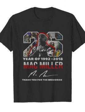 26 year of 1992 2018 mac miller thank you for the memories signature shirt