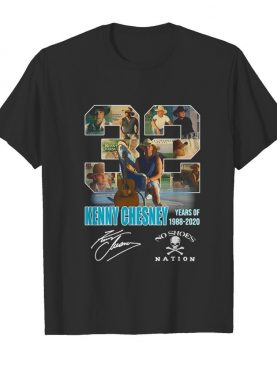 32 kenny chesney years of 1988 2020 no shoes nation signature shirt