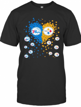 76Ers And Steelers True Love Heart T-Shirt