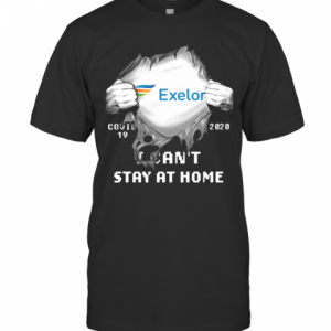 Blood Insides Exelon Covid 19 2020 I Can'T Stay At Home T-Shirt