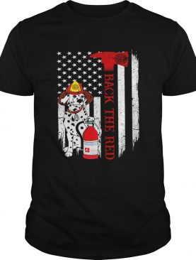 Firefighter Dog Back The Red American Flag shirt
