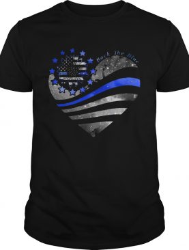 Heart Flower Thin Blue Line Back The Blue shirt