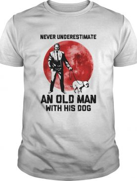 John Wick Never underestimate an old man with his dog sunset shirt