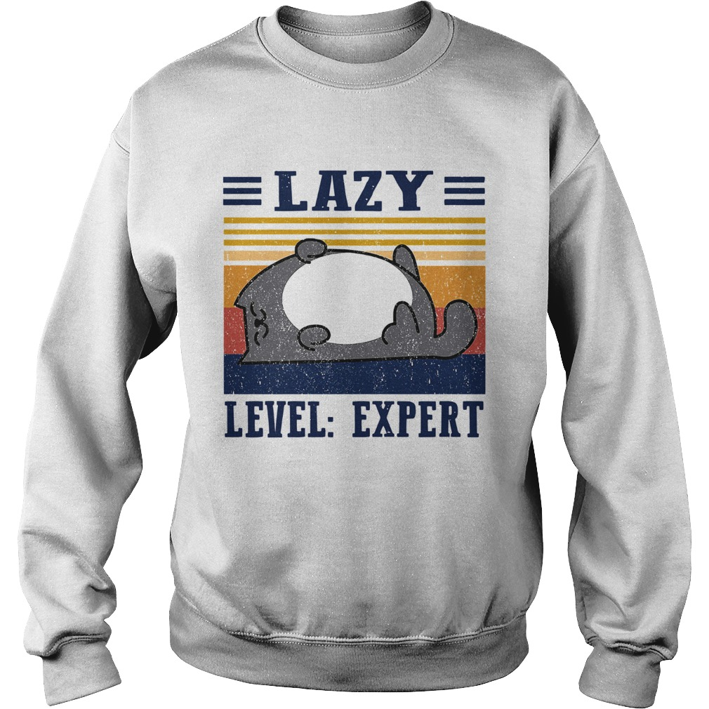 Lazy Level Expert Vintage  Sweatshirt