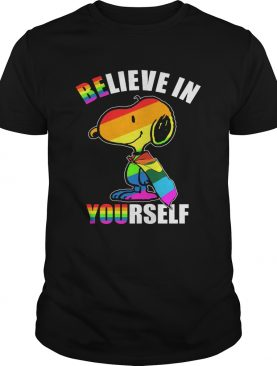 Lgbt flag snoopy believe in yourself shirt
