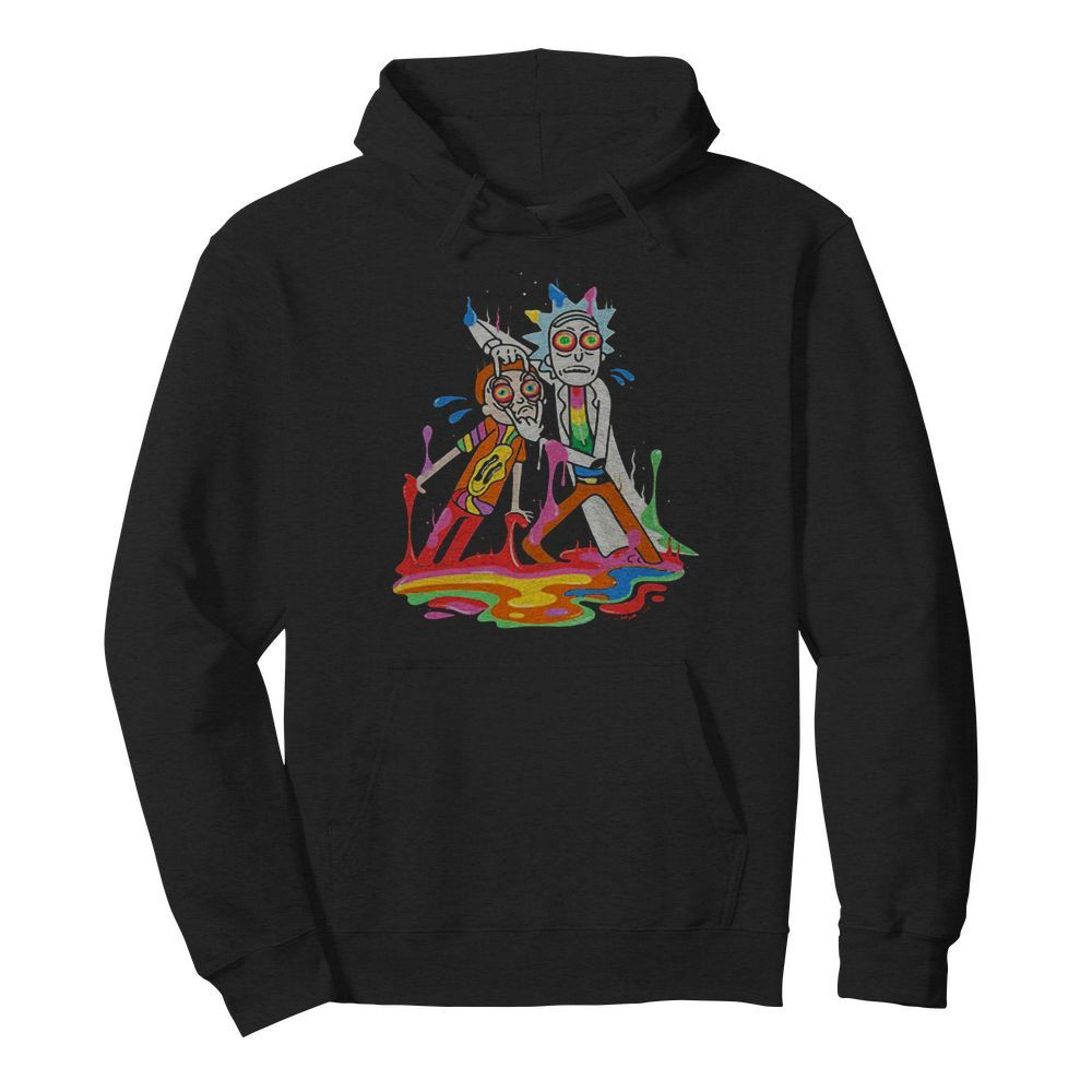 Lgbt rick and morty watercolor  Unisex Hoodie