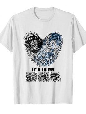 Los angeles raiders and los angeles dodgers hearts it's in my dna shirt