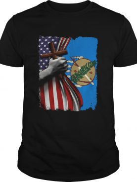 Oklahoma american flag cross happy independence day shirt