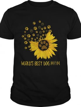 Sunflower worlds best dog paws mom shirt