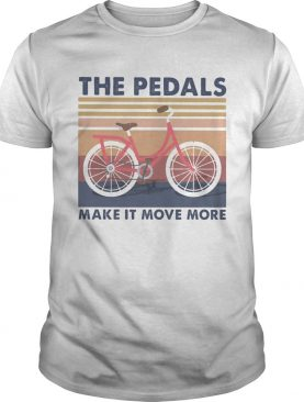 Bicycle the pedals make it move more vintage retro shirt