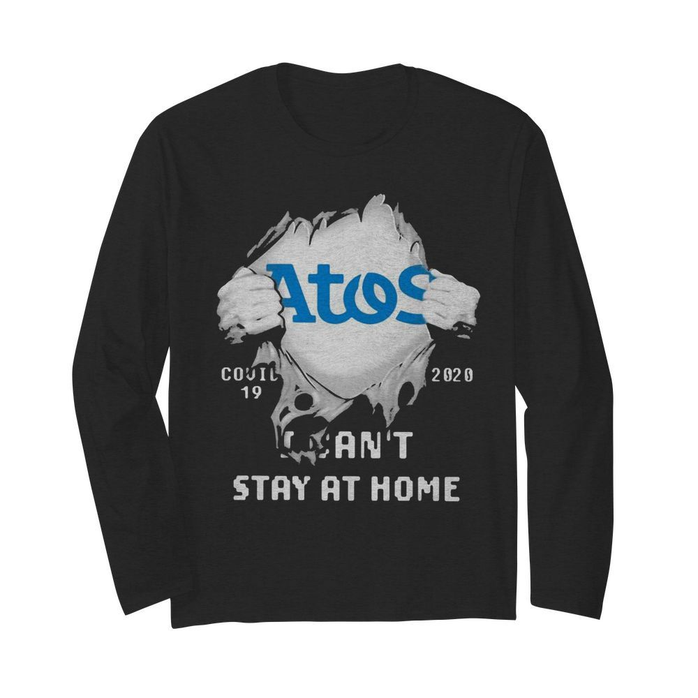Blood inside me Atos Syntel covid-19 2020 I can't stay at home  Long Sleeved T-shirt