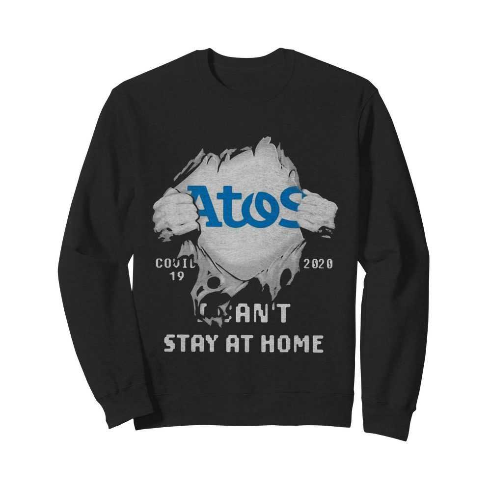 Blood inside me Atos Syntel covid-19 2020 I can't stay at home  Unisex Sweatshirt