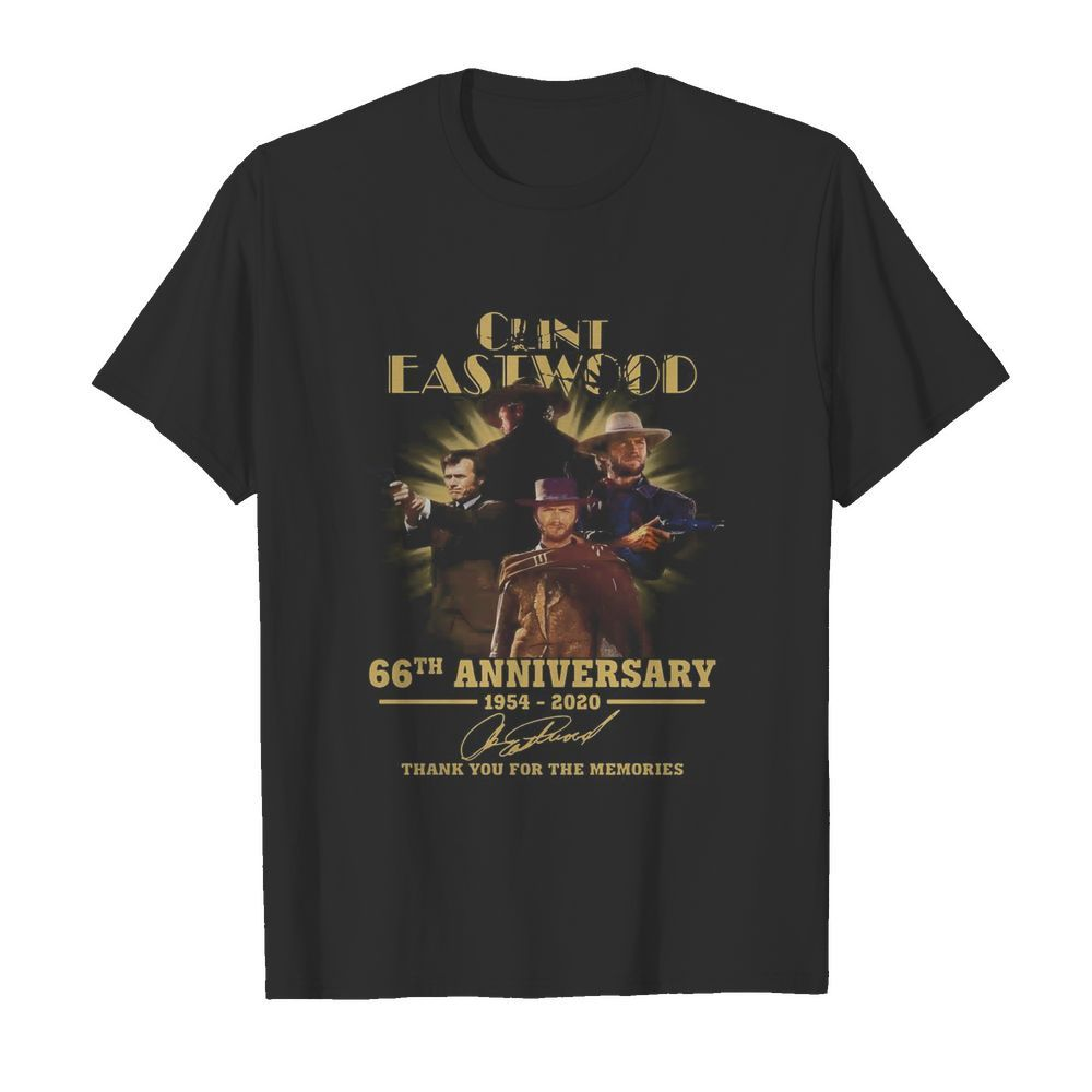 Clint Eastwood 66th Anniversary 1954 2020 Thank You For The Memories Signatures  Classic Men's T-shirt