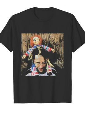 Halloween scrim with chucky shirt