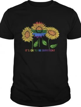 LGBT Sunflower its ok to be different shirt