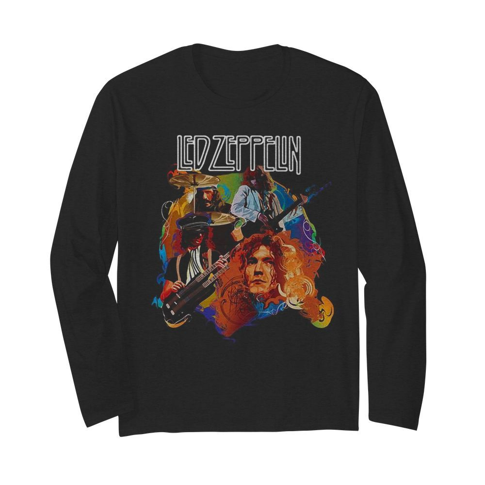 Led zeppelin band members playing guitar  Long Sleeved T-shirt