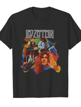 Led zeppelin band members playing guitar shirt