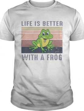 Life Is Better With A Frog Vintage Retro shirt