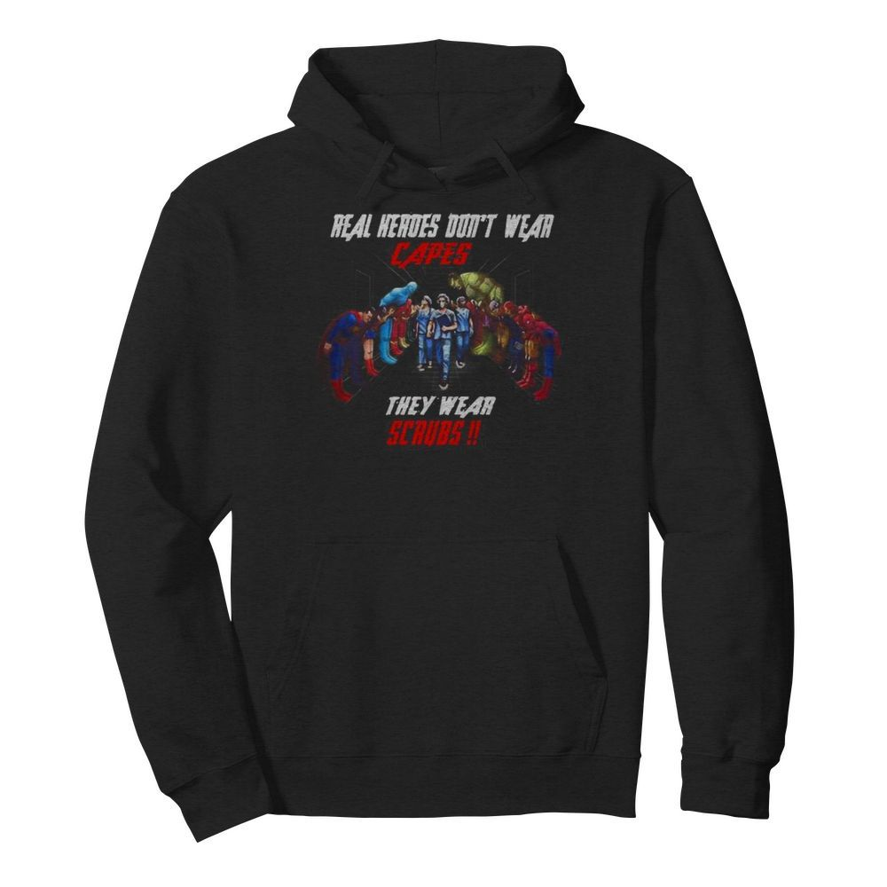 Real heroes dont wear capes they wear scrub  Unisex Hoodie