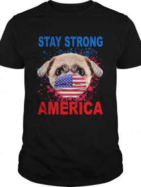 Shih Tzu Face Mark Stay Strong America shirt