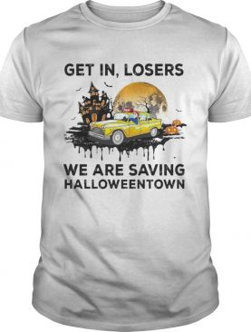 Skeleton get in loser we are saving halloweentown moon shirt