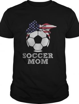 Soccer mom american flag independence day shirt