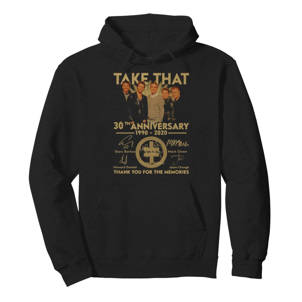 Take that 30th anniversary 1990 2020 thank you for the memories signatures  Unisex Hoodie