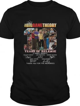 The Big Bang Theory Years Of Release 20072020 Signatures Thank You For The Memories shirt