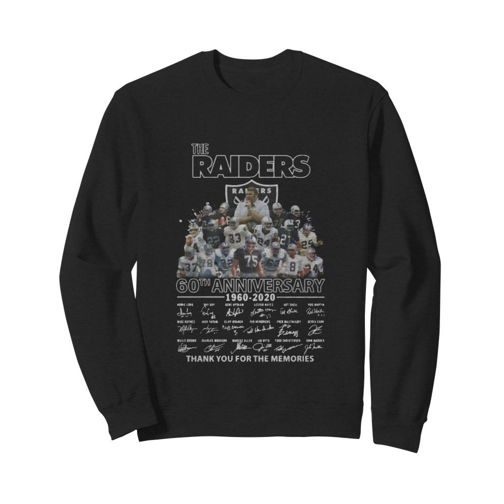 The raiders 60th anniversary 1960 2020 thank you for the memories signatures  Unisex Sweatshirt