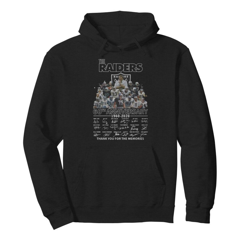 The raiders 60th anniversary 1960 2020 thank you for the memories signatures  Unisex Hoodie