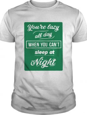 Youre Lazy All Day When You Cant Sleep At Night Mens Premium shirt